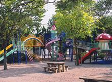 美浜幼稚園の園庭